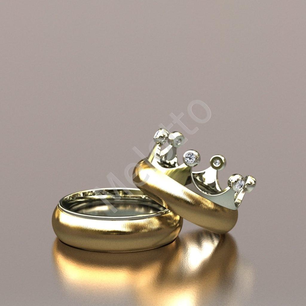 Обручальная двухцветная пара Короны 60000 ₽ · Эксклюзивная пара обручальных  колец «Корона» 52000 ₽ 66a1cc12670