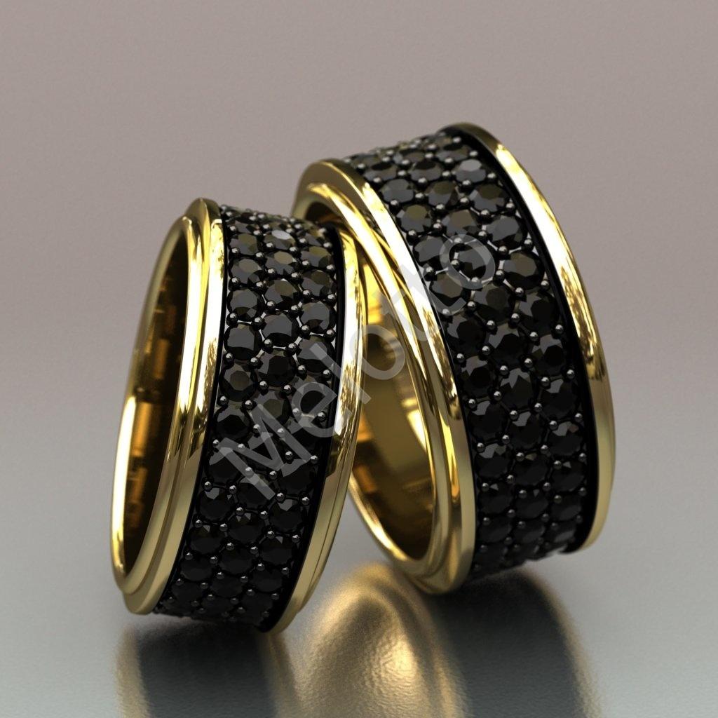 a7d4a63ea8ce Обручальные кольца с черными бриллиантами   Московская ювелирная ...