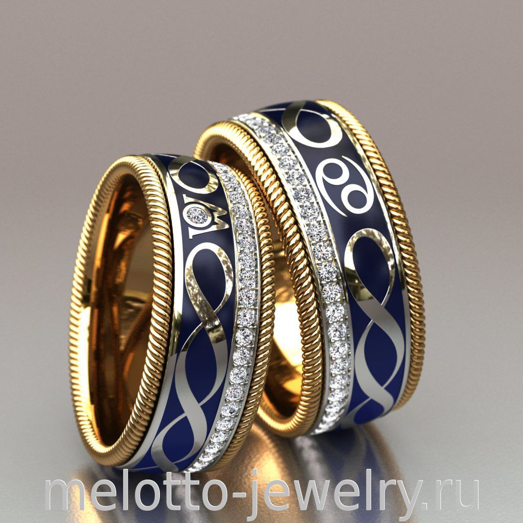 59383f10b705 Вращающиеся обручальные кольца с знаком бесконечности 120 000 руб