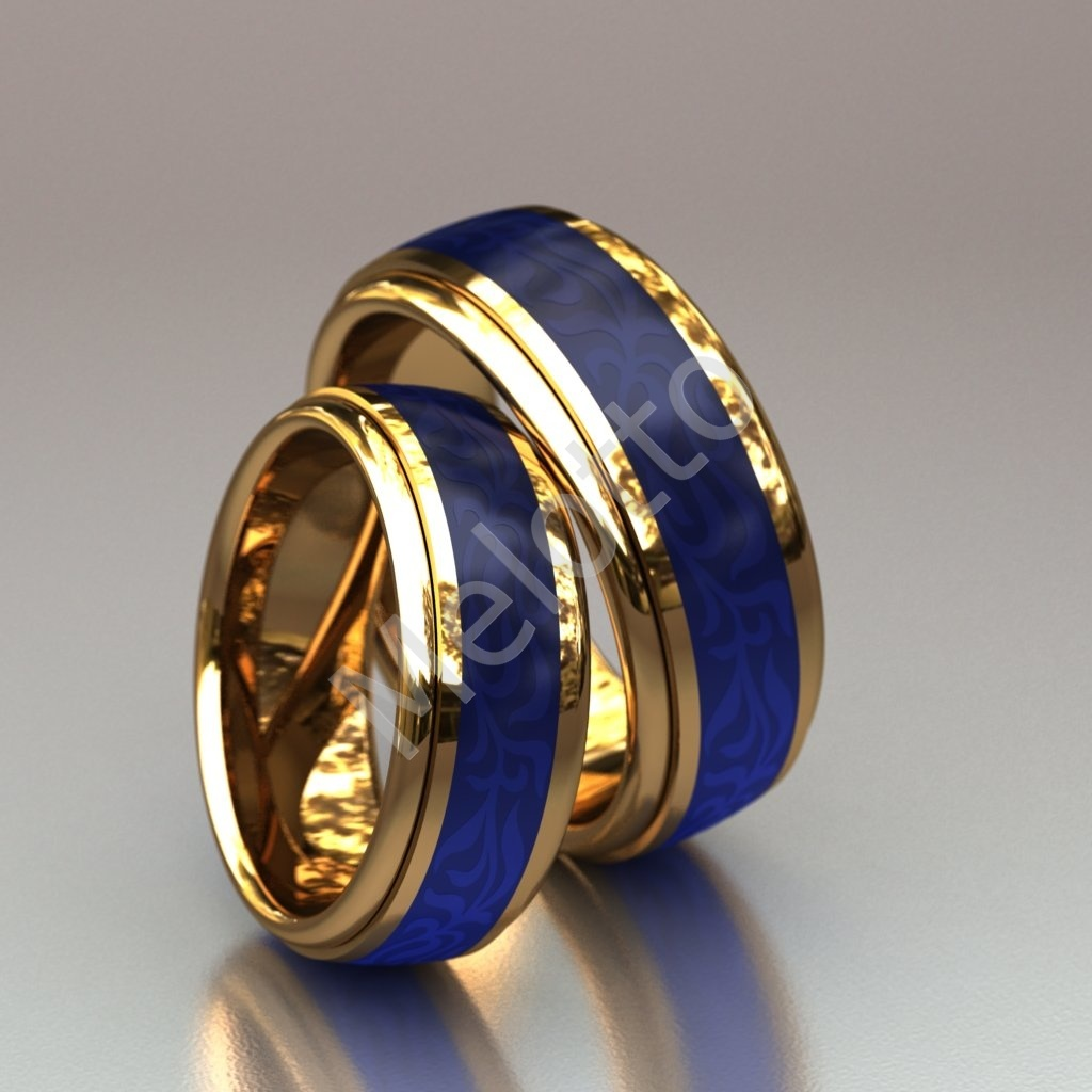 c53ff5522788 Пара обручальных колец с синей эмалью 170 000 руб.