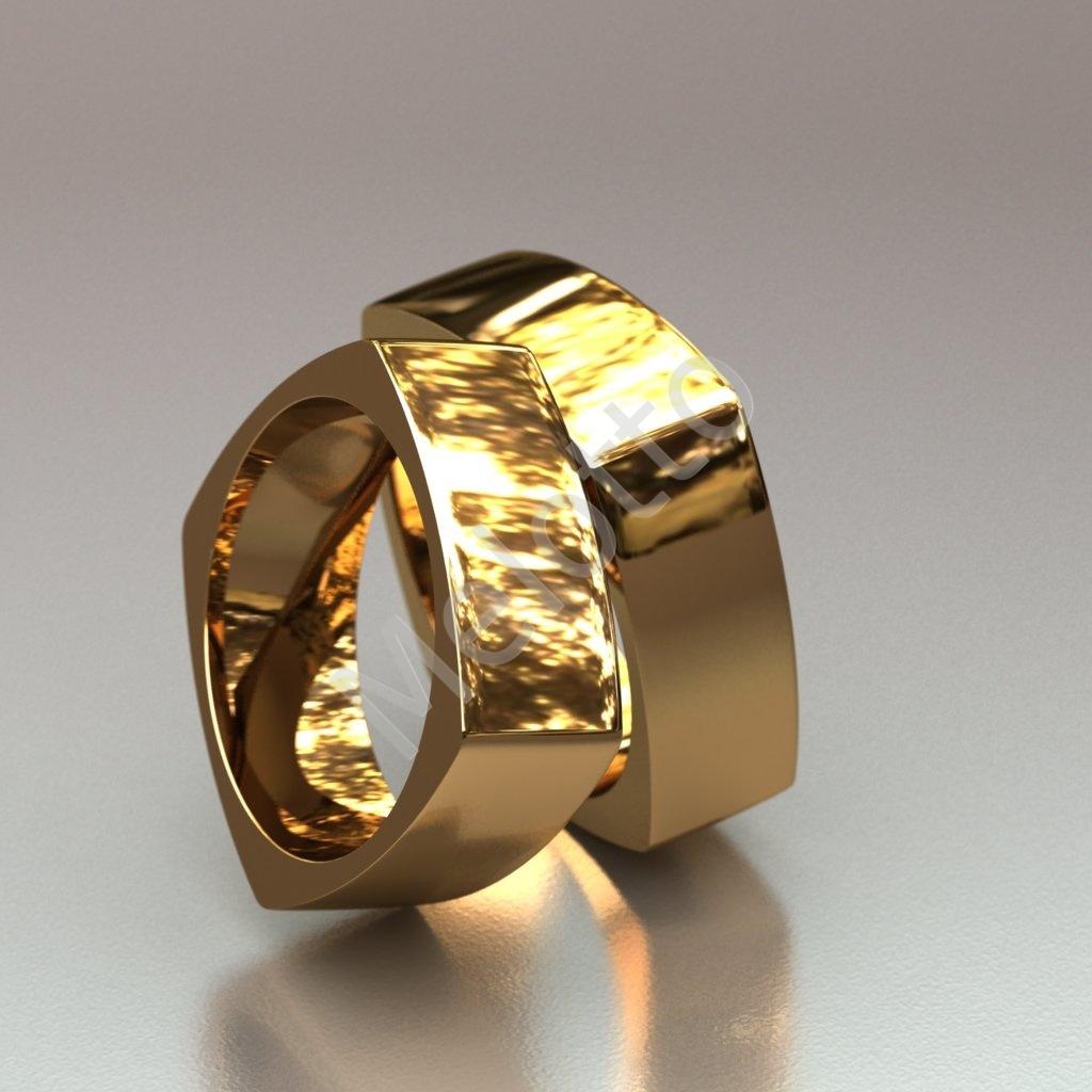 bdee8d90b15d Гладкие составные обручальные кольца 67 000 ₽ · Обручальные кольца   quot Гайка quot  ...