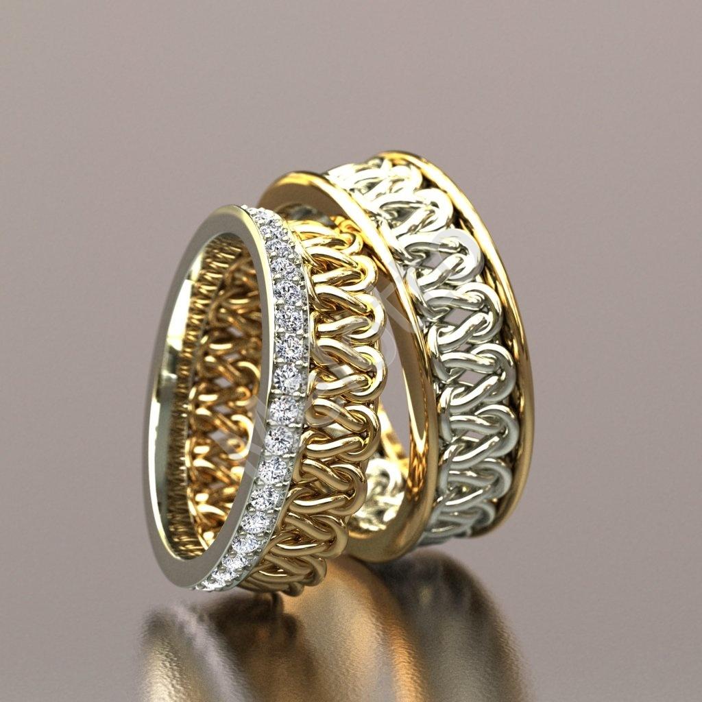 Обручальные кольца с камнями   Московская ювелирная мастерская