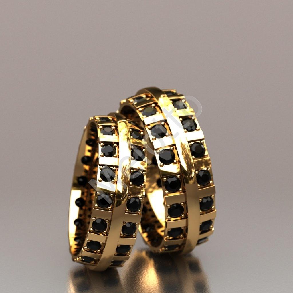 d3d220ea1eca Обручальные кольца с черными и белыми бриллиантами 280 000 ₽ · Обручальные  кольца с черными бриллиантами 130000 ₽