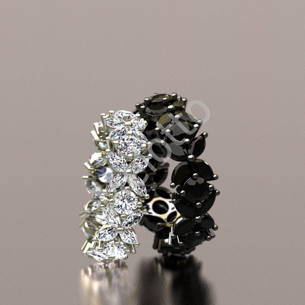Красивые обручальные кольца с бриллиантами 20B1648 e344adb38a4