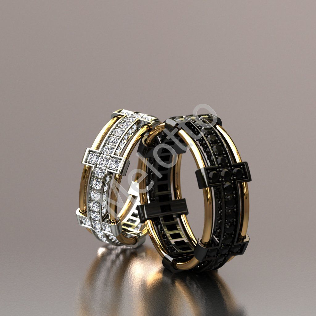 fbf6f3cb161b Обручальная пара c черными и белыми бриллиантами 113 000 ₽ · Обручальные  кольца с бриллиантами и чёрным родием 300 000 ₽