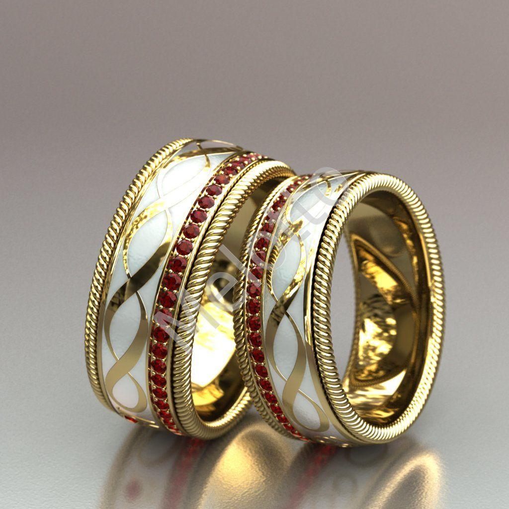 c8ebb55600e2 Обручальные кольца с эмалью   Московская ювелирная мастерская